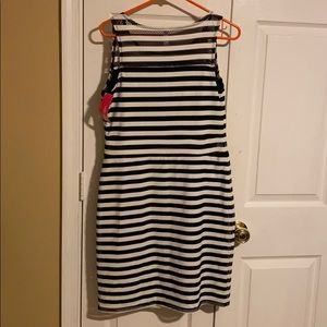 Xhiliration stripe dress new